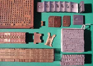 A variety of type pieces